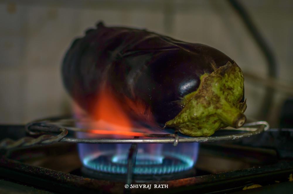 Roasting of Eggplant