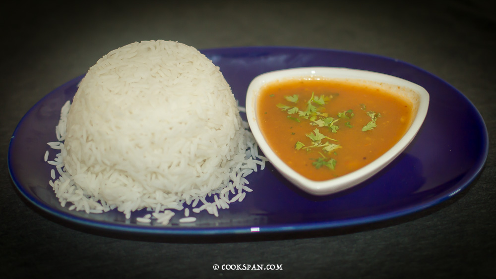 Tomato Rasam and Plain White Rice