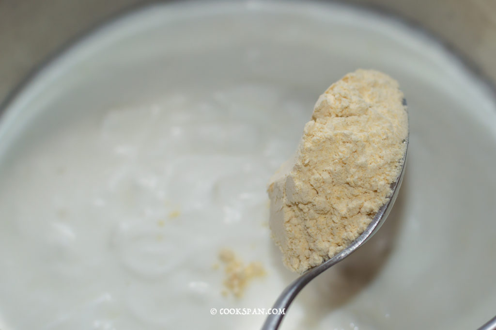 Adding Chickpea Flour to curd