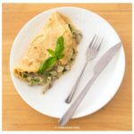 Omelette stuffed with Mushroom and Spinach with a Healthy twist
