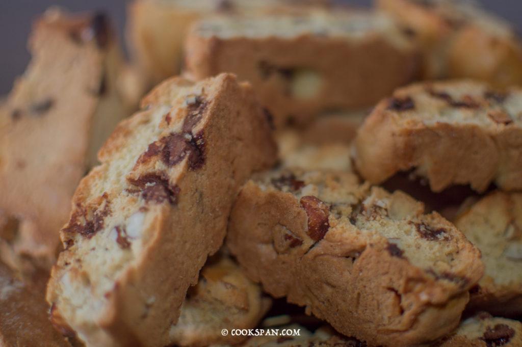 Almond and Choco-chip Biscotti
