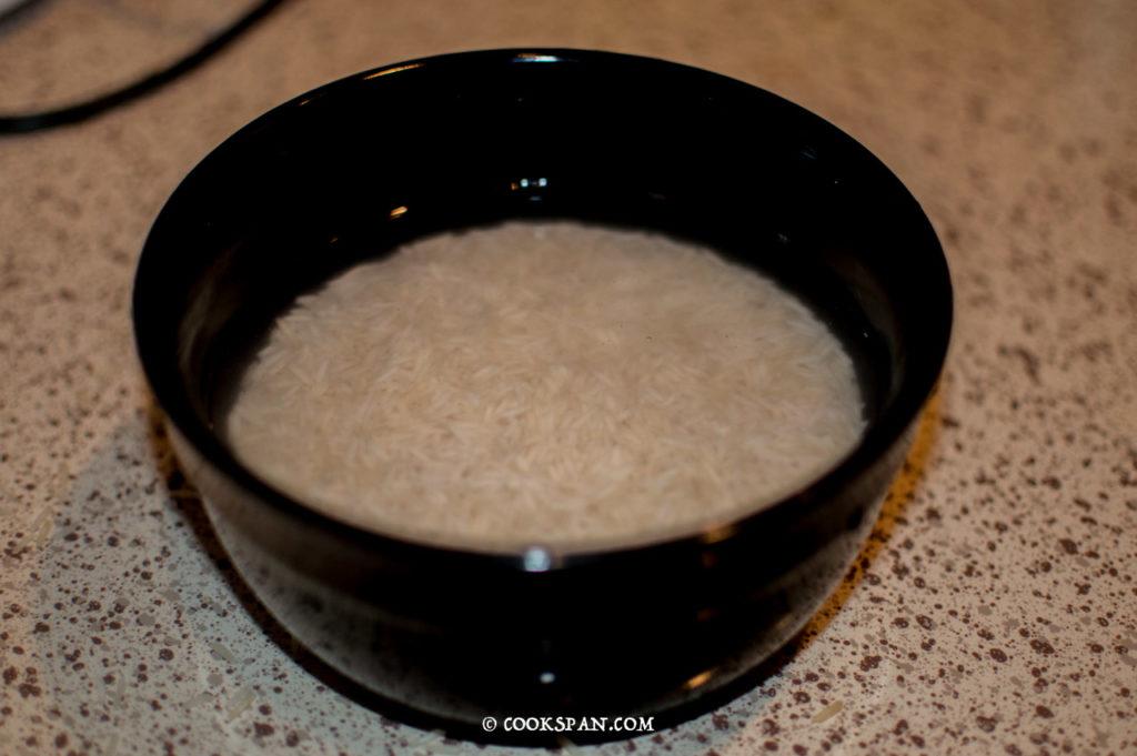Soaked Basmati Rice