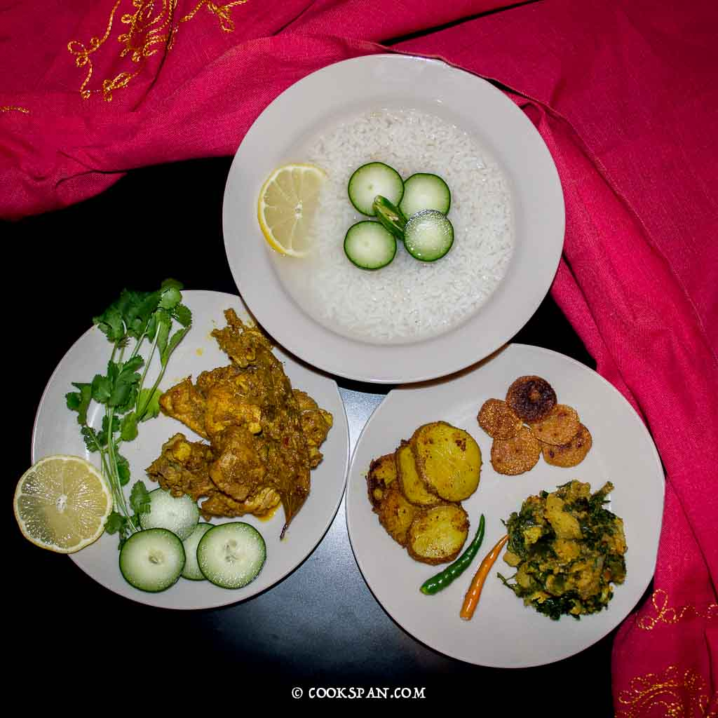 Saja Pakhala with Chicken Kasa