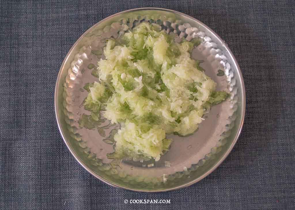 Grated Lauki or Bottle Gourd