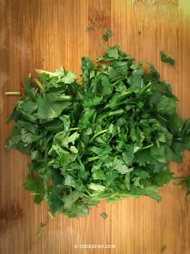 Roughly chopped Coriander Leaves
